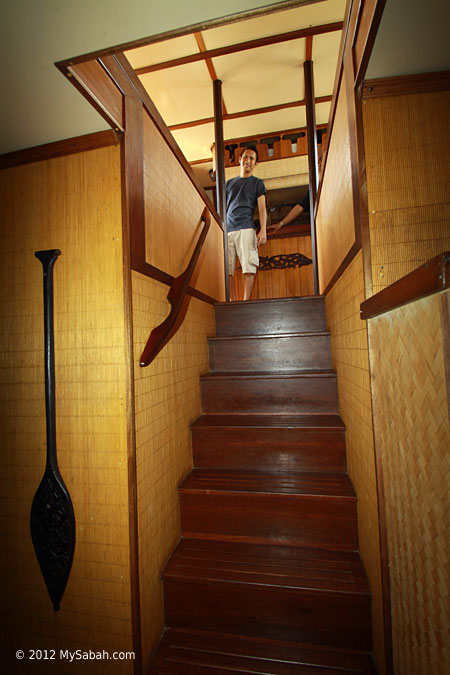 staircase to lower deck
