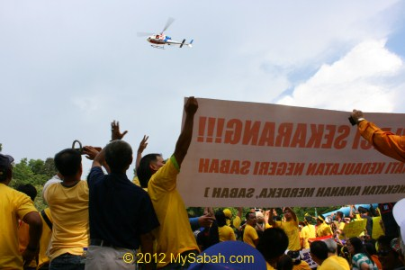 helicopter checking out Bersih 3.0 in Merdeka Field