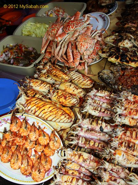 Grilled Seafood for sale