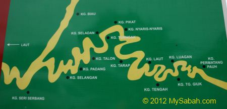 map of Bongawan River