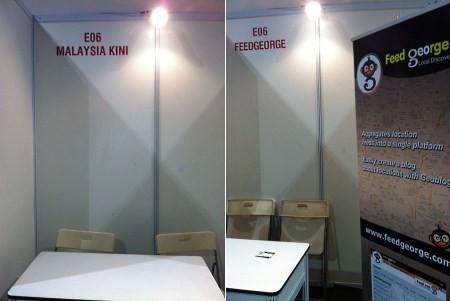 booth of Malaysia Kini