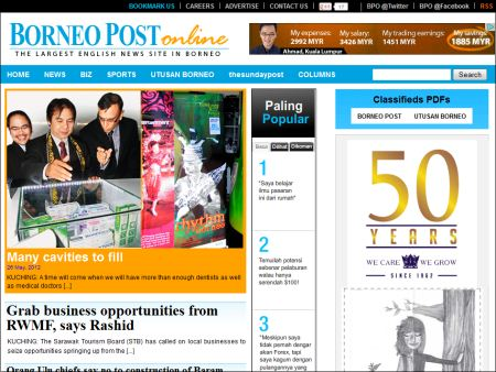 website of Borneo Post