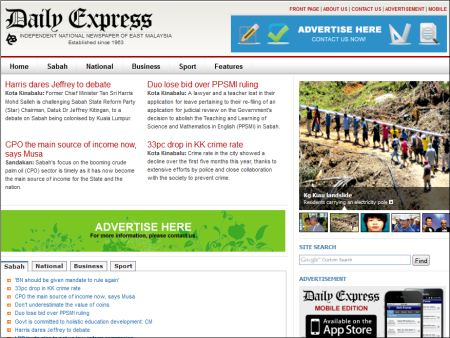 website of Daily Express