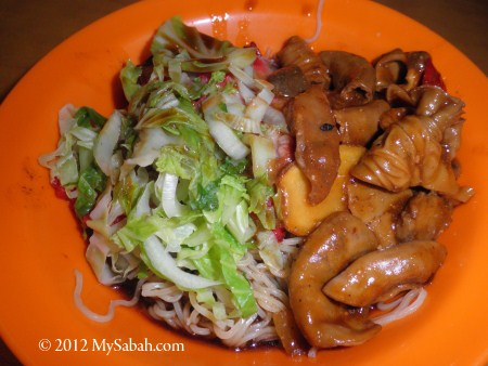 rice noodle with mixed pork