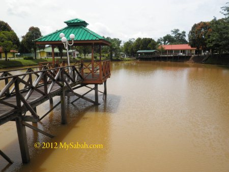 the lake in IPS (Institut Perhutanan Sabah)