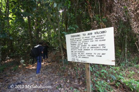 mud volcano trail of Pulau Tiga