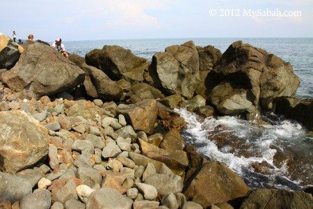 rocky beach of Snake Island