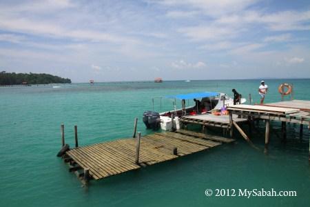 jetty of Pulau Tiga Island