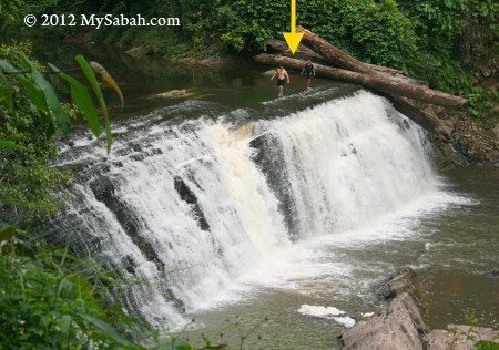 walking on Imbak Waterfall