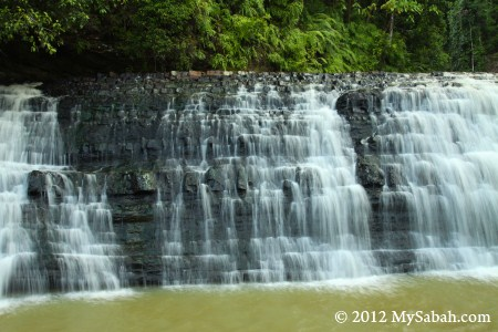 close-up of Imbak Waterfall