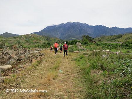 village road in Ultra Trail Run