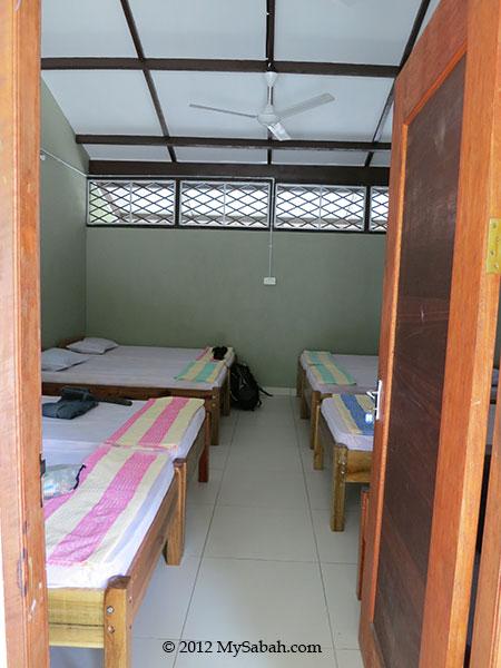 room of Sayang-Sayang Hostel (Pulau Besar Mantanani)