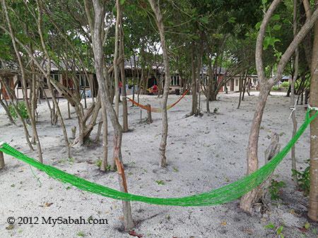 hammock at Sayang-Sayang Hostel