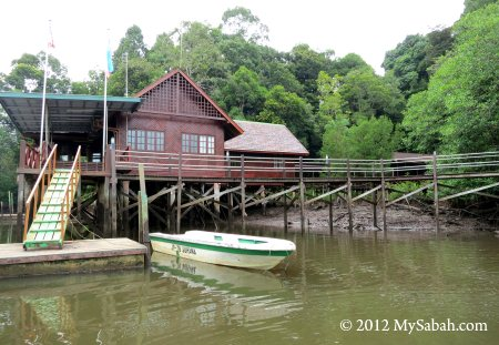 Sepilok Laut Reception Centre and new boardwalk