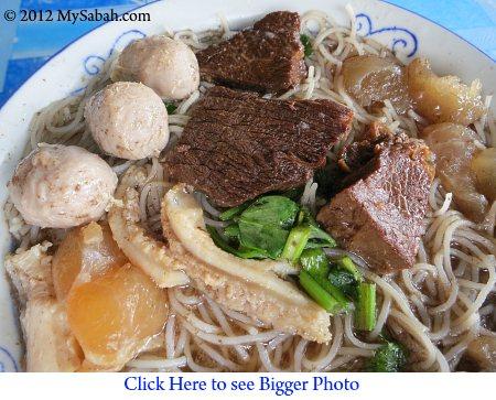 mixed beef noodle / ngiu chap mee fong