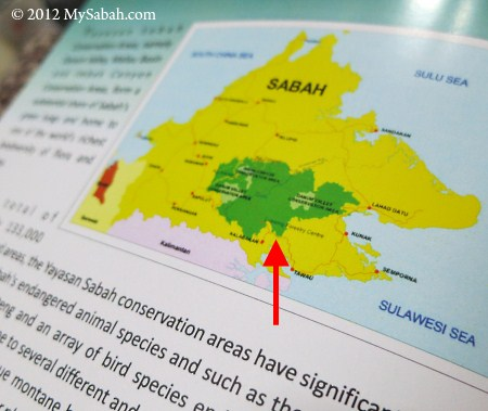 map of DaMaI, proposed World Heritage Site of Sabah
