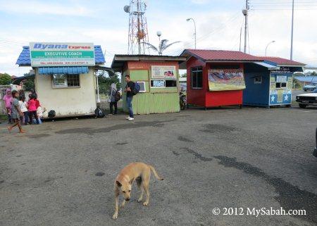 bus terminal in Kunak