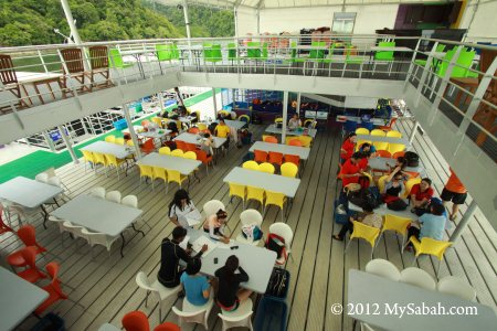dining area of Borneo Reef World