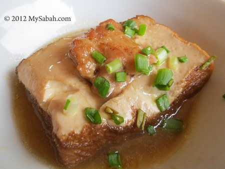 bean curd with minced pork stuffing
