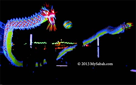 Night vision dragon dance