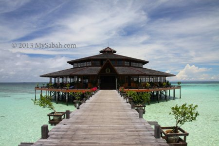 restaurant of Lankayan Island