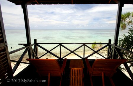 sea view at balcony