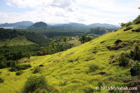 Skull Hill (Bukit Tengkorak) in green