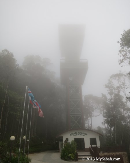 Tower of Heaven (Menara Kayangan) in fog