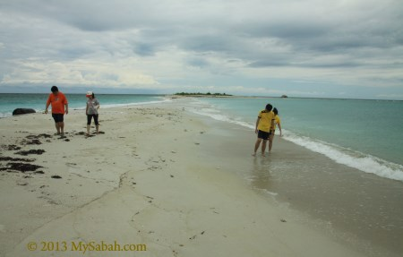 walking on sand bar