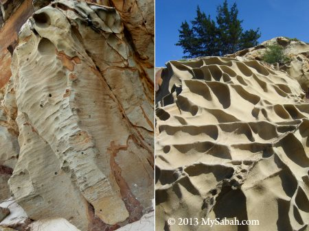 wind erosion at Tip of Borneo
