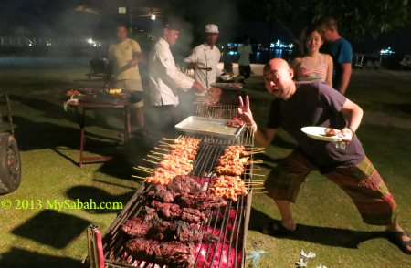 BBQ party at Borneo Divers Mabul Resort (BDMR)