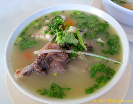 fish lip soup