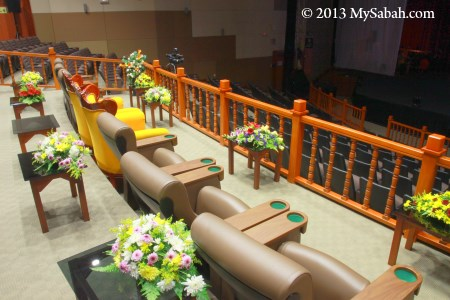 VIP seats in auditorium