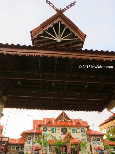 gate of Kompleks Jabatan Kebudayaan dan Kesenian Negara Sabah