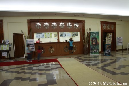 ticketing counter of auditorium