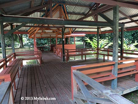 verandah in Taliwas Forestry & Recreation Area