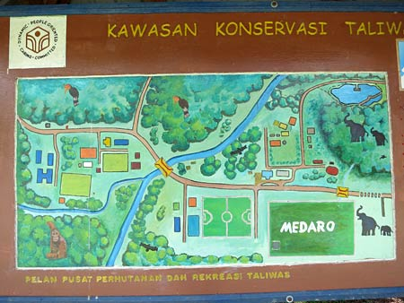 layout map of Taliwas Forestry & Recreation Area