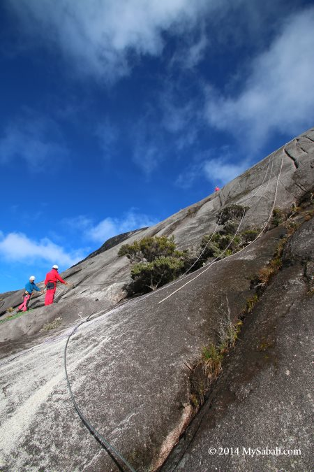 site of alpine sport climbing