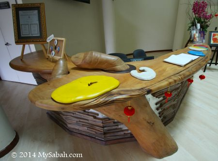 reception desk of Sabah Art Gallery