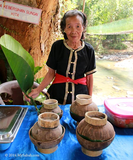 villager serving traditional food