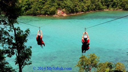 ziplining to Sapi
