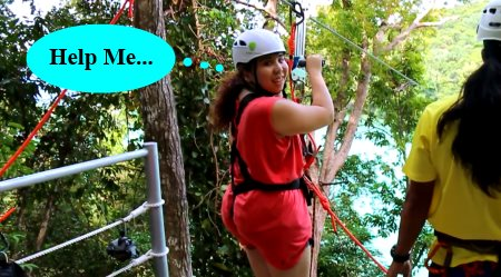 prepare for ziplining