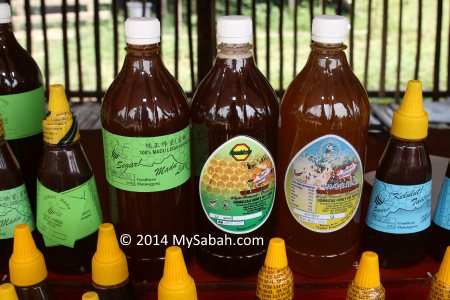 big bottles of honey