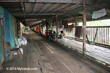 inside modern longhouse