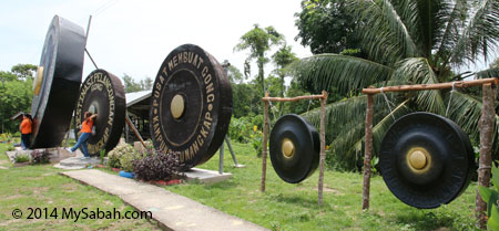 big gongs in Sumangkap Village