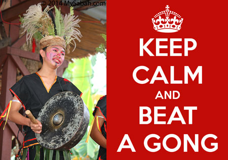 Keep Calm and Beat a Gong