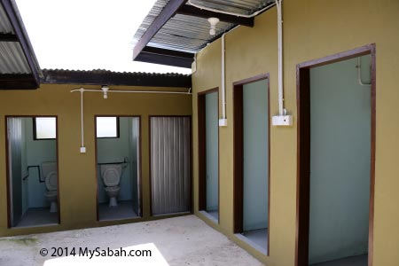 toilet and bathroom at Tenom farmstay