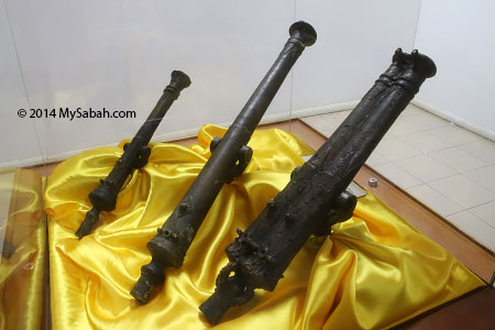 antique cannon used by Pengiran Shahbandar Hassan