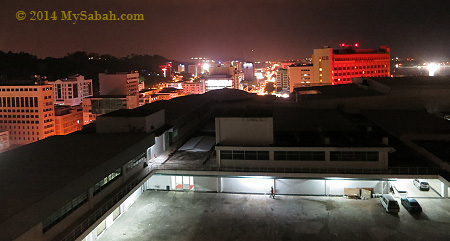 night view of Kota Kinabalu city