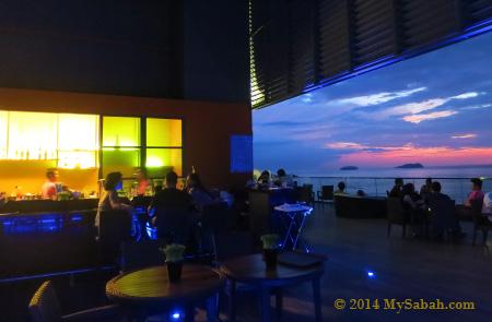 Sky Blu Bar during dusk